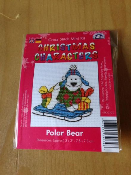 Polar Bear Christmas Character DMC Mini Kit